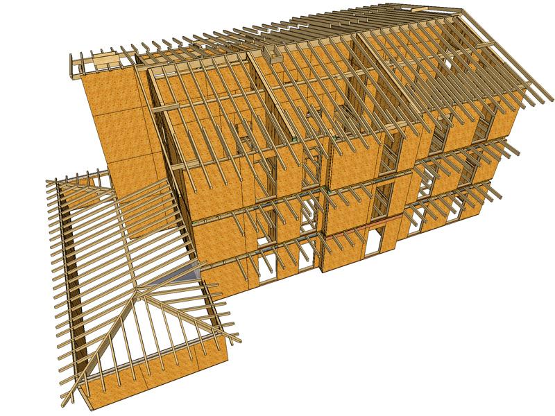 Sistemi costruttivi per edifici in legno platform frame for Costruzioni in legno