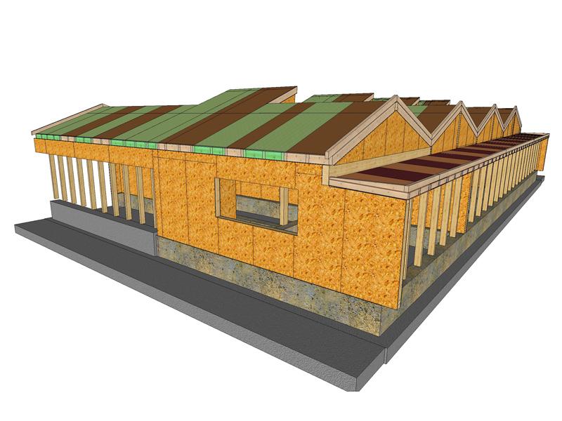 Sistemi costruttivi per edifici in legno platform frame for Fondazioni per case in legno