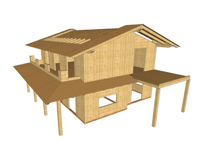 Sistemi costruttivi per edifici in legno xlam sistem for Case legno xlam