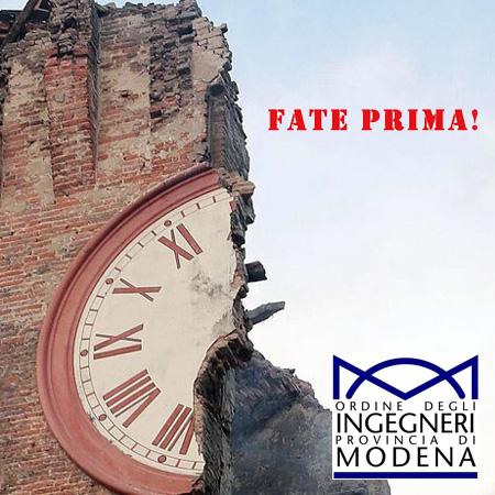 Fate Prima: Convegno organizzato dall'ordine degli ingegneri della provincia di Modena