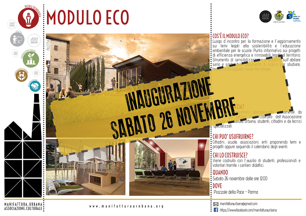 Sabato 26 Novembre 2016 Modulo ECO Parma, Sostenibilità ambientale e dialogo