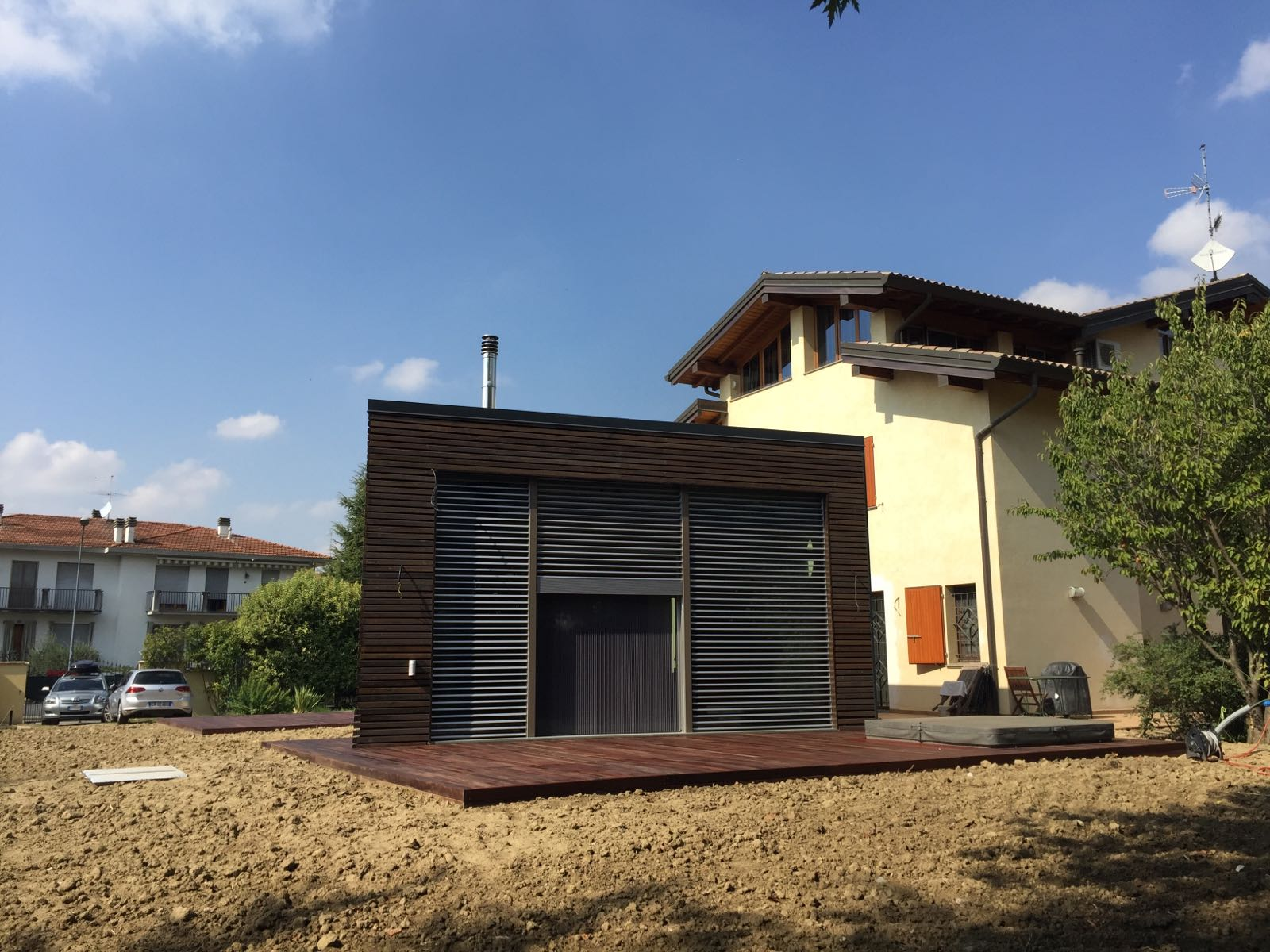 Ampliamento noceto di parma sistem costruzioni for Casa in legno tradizionale