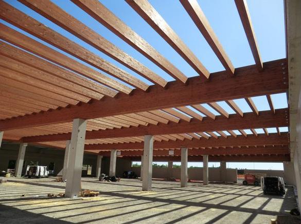 Copertura In Legno Lamellare : Supermercato conda imola sistem costruzioni copertura in legno