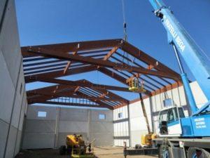 azienda agricola copertura legno lamellare