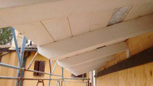 copertura di villa in legno xlam alto isolamento acustico e termico bologna