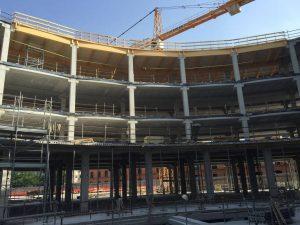 Copertura-legno-lamellare-Hera-Bologna eidificio ecosostenibile