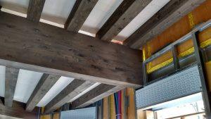 solaio di villa in legno xlam alto isolamento acustico e termico bologna