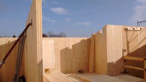 Casa in legno contemporanea, villa in legno prefabbricata modena