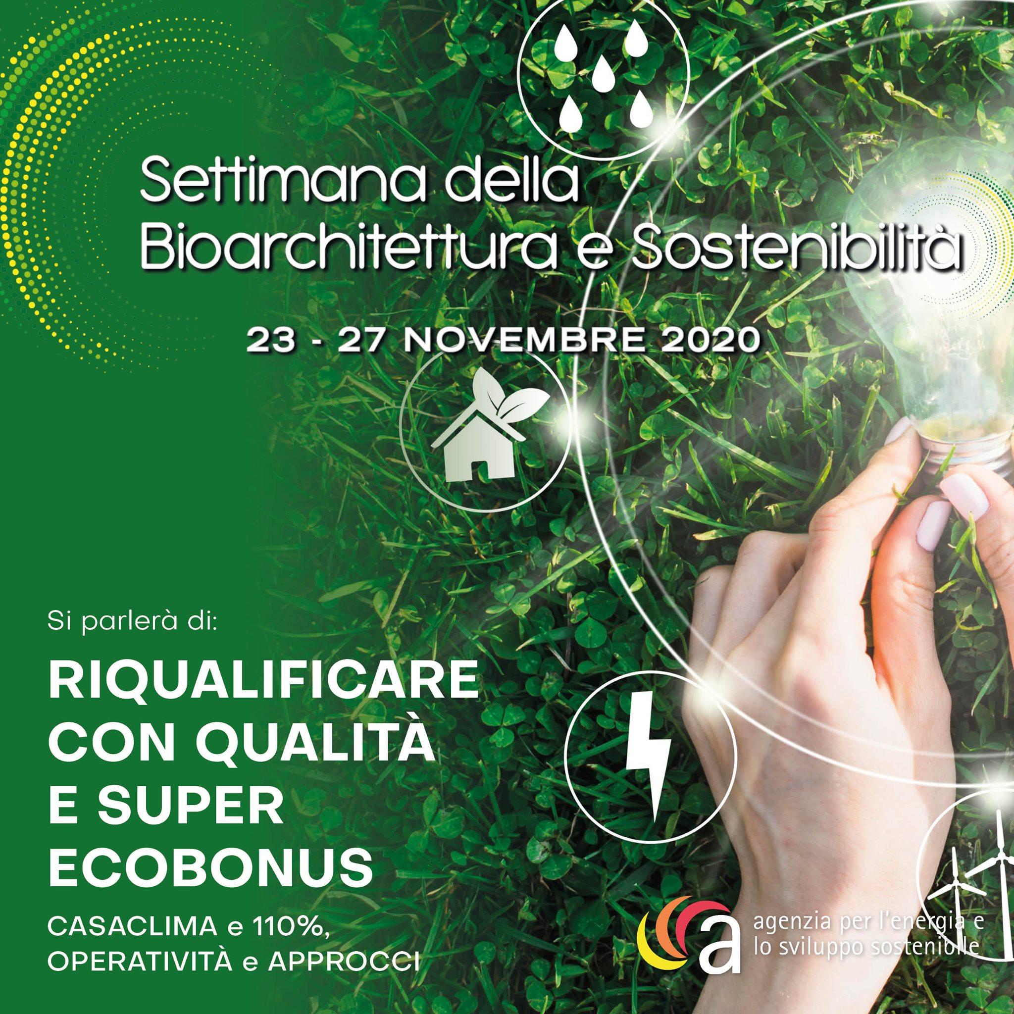 Sistem Costruzioni sponsor della Settimana della Bioarchitettura 2020