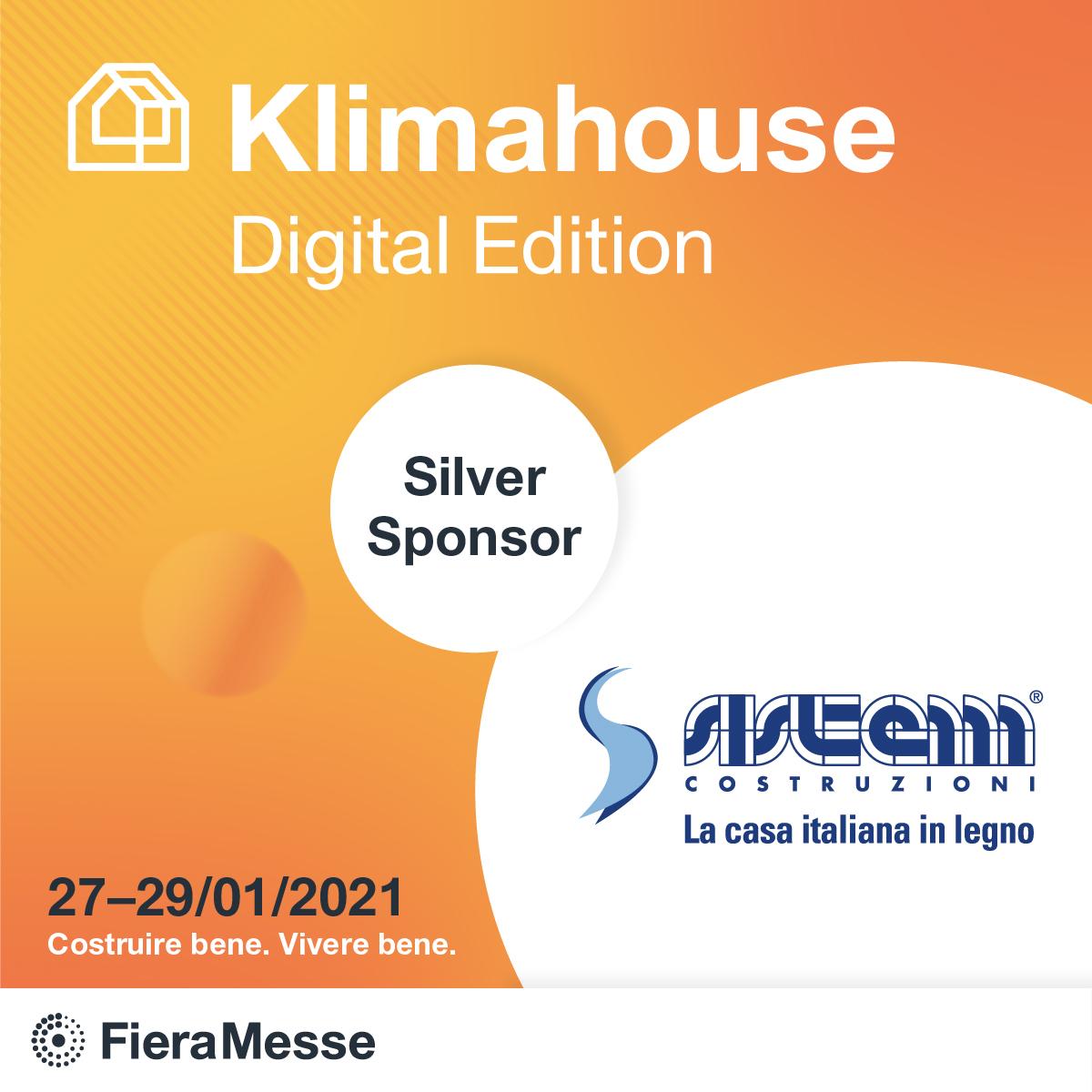 Sistem Costruzioni Sponsor di Klimahouse Digital Edition
